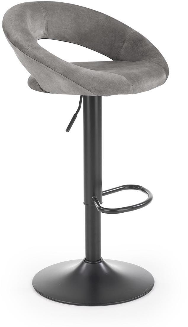 HALMAR H-102 barová stolička sivá / čierna