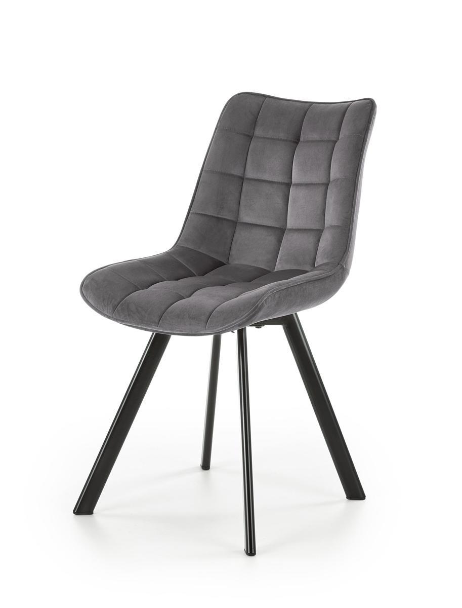 HALMAR K332 jedálenská stolička tmavosivá / čierna