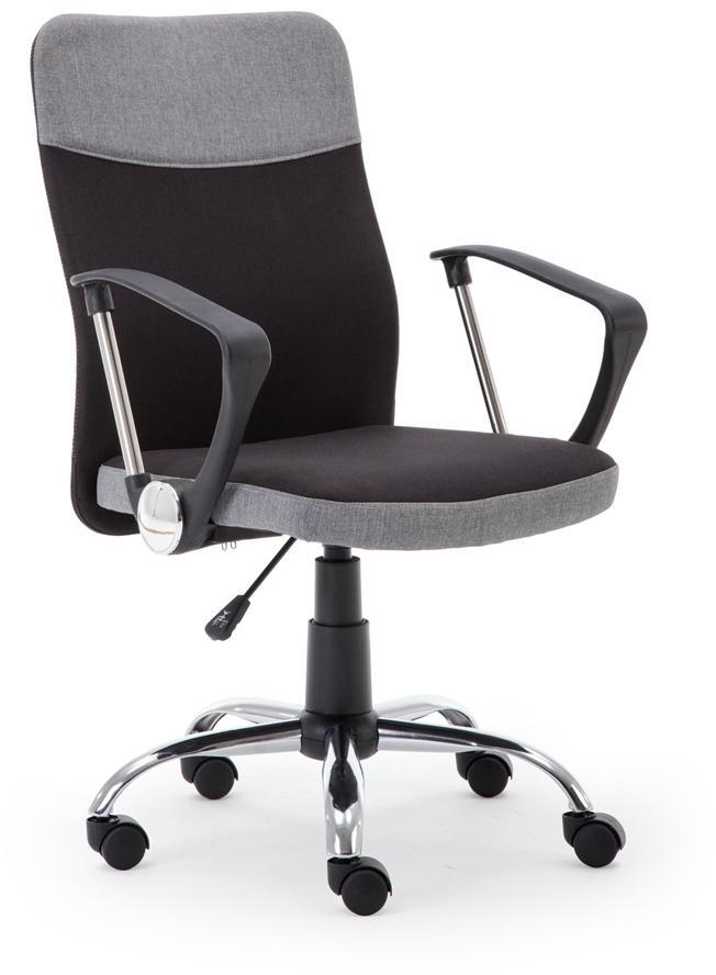 HALMAR Topic kancelárska stolička s podrúčkami sivá / čierna