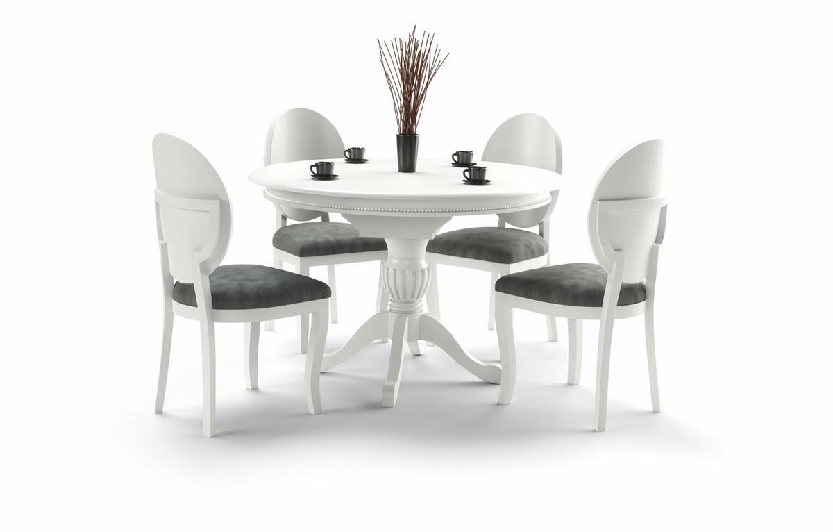 HALMAR William rustikálny rozkladací jedálenský stôl biela