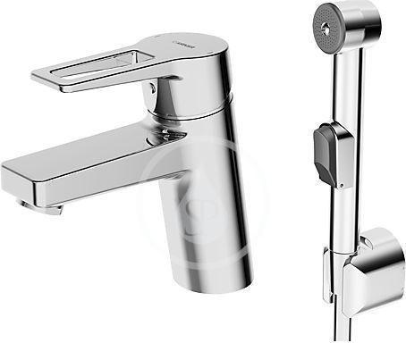 HANSA - Twist Páková umývadlová batéria s funkčnou sprchou, chróm 09302205