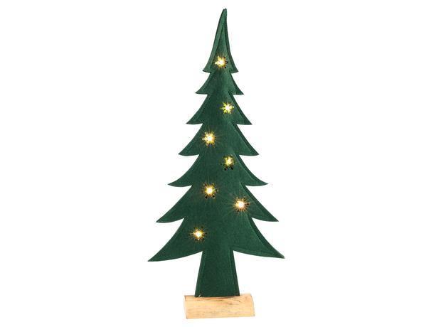 SVENSKA LIVING Plstený vianočný stromček 7 LED 52cm s časovačom