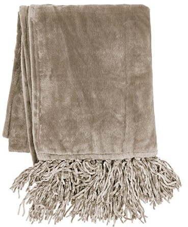 Hnedá deka z mikroplyšu Tiseco Home Studio, 130 x 170 cm
