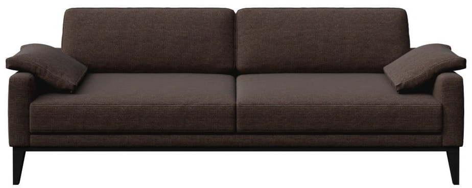 Hnedá pohovka MESONICA Musso, 211 cm