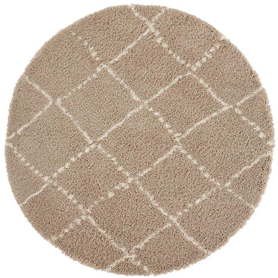 Hnedý koberec Mint Rugs Hash, ⌀ 160 cm
