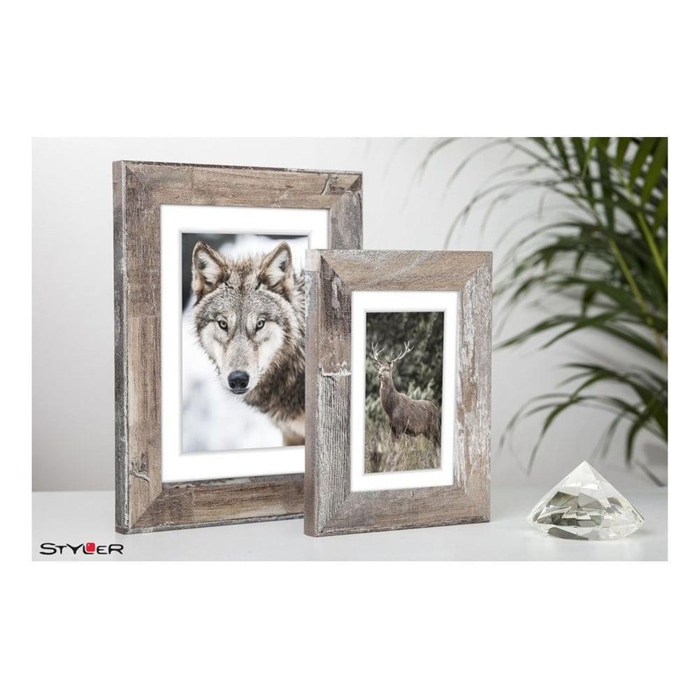 Hnedý rámik na fotografiu Styler Bergen Shabby, 46 x 56 cm