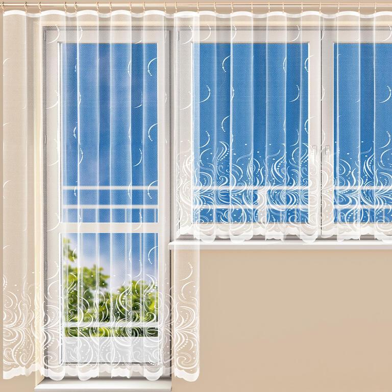 Hotová žakárová záclona BELLA - balkónový komplet