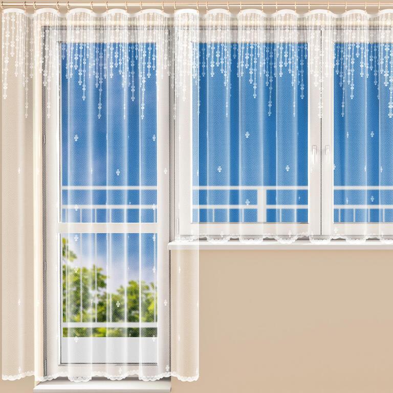 Hotová žakárová záclona RIA - balkónový komplet