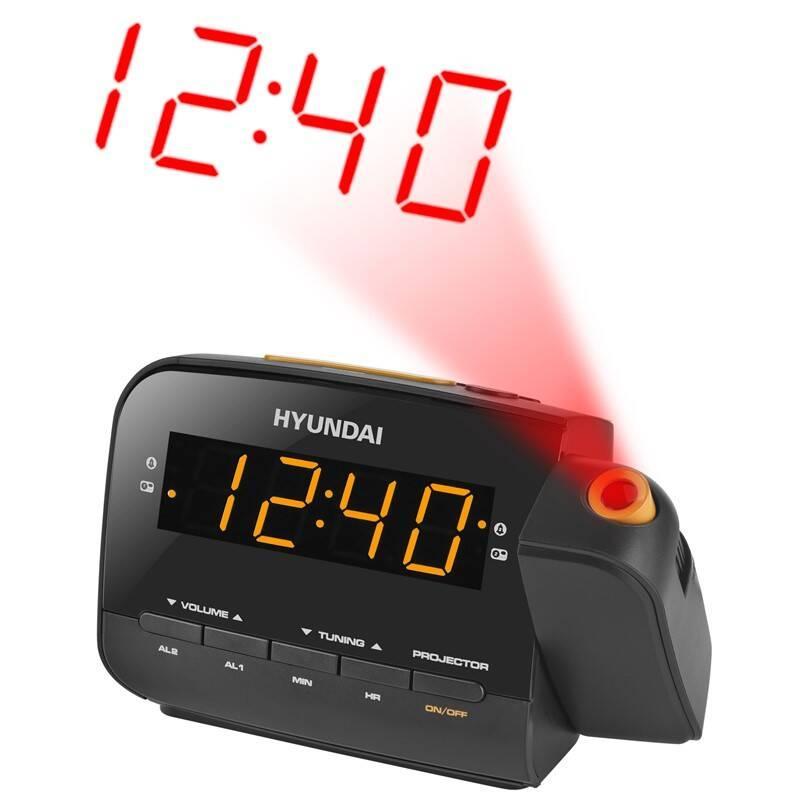 Rádiobudík Hyundai RAC 481 PLLBO čierny/oranžový