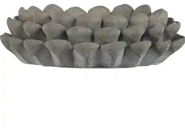 IB LAURSEN Cementový svietnik Cone Cement väčší