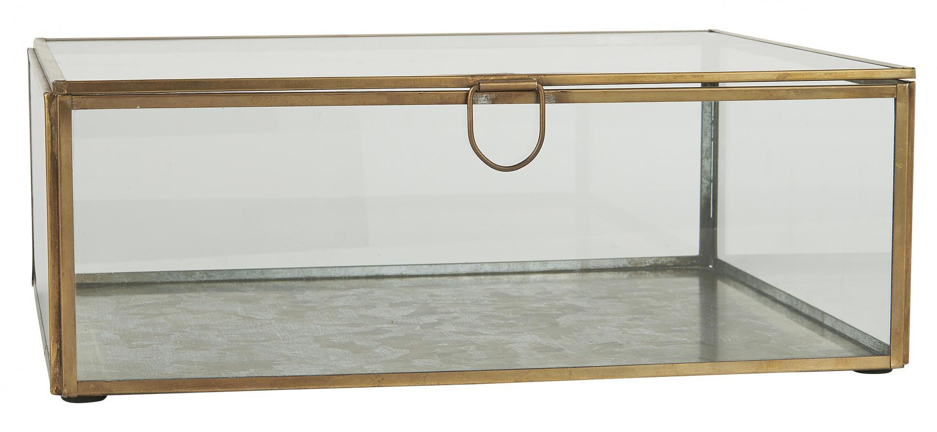 IB LAURSEN Sklenený box Antique Brass