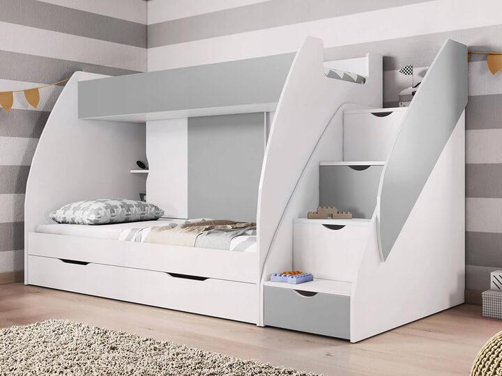 ID Multifunkčná poschodová posteľ Marko Farba: Sivá