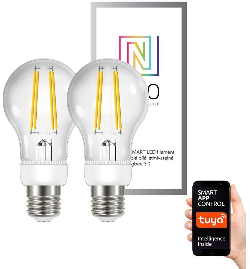 Immax NEO 07088B - SADA 2xLED Stmievateľná žiarovka E27/6,3W/230V 2700K