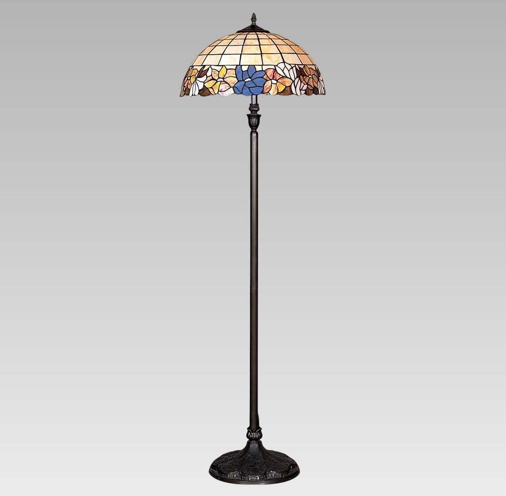 Interierové rustikálne svietidlo PREZENT TIFFANY 2xE27/60W, FLOOR 145