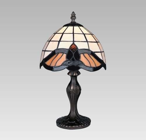 Interierové rustikálne svietidlo PREZENT TIFFANY antická hnedá 147