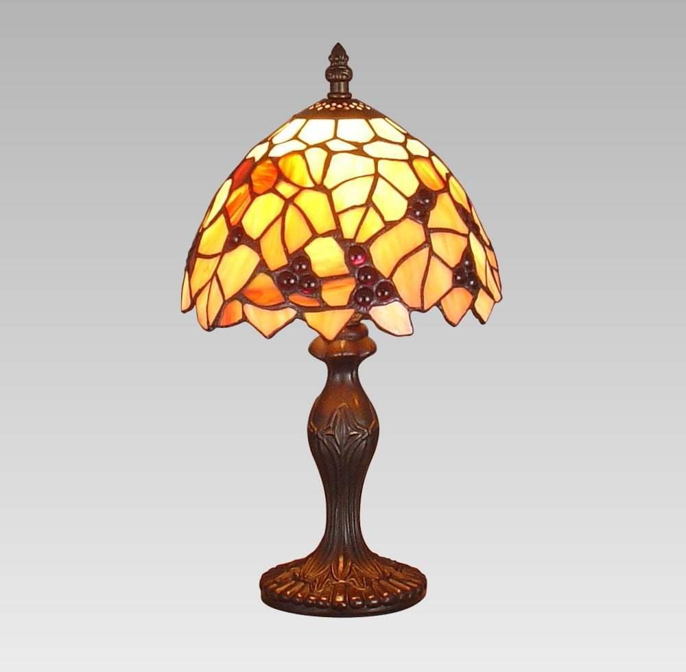 Interierové rustikálne svietidlo PREZENT TIFFANY oranžová   69