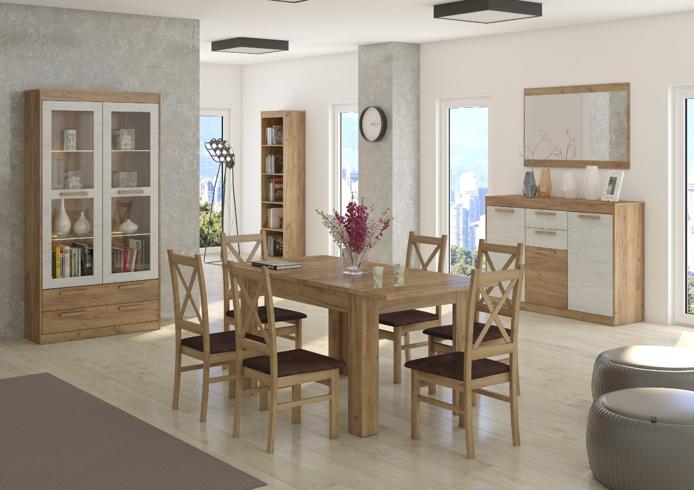 Jedáleň Maximus WIP 11 Farba: dub burgund/biela lesk