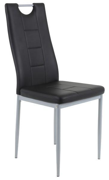 Jedálenská stolička Kim, čierna ekokoža