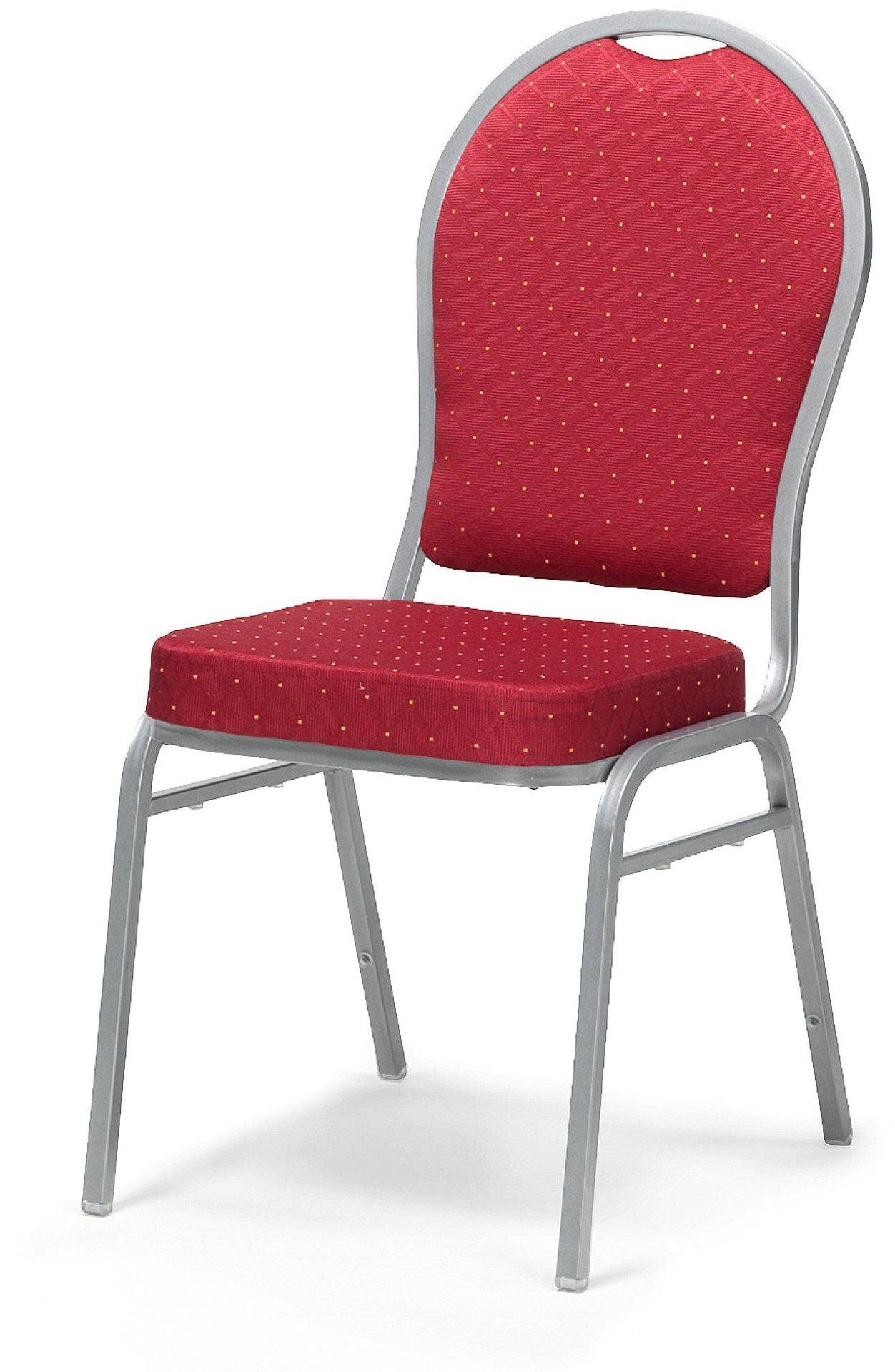 Jedálenská stolička Seattle, červená / šedá