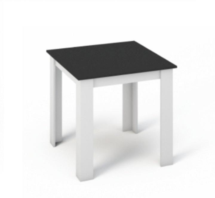 Jedálenský stôl 80x80 KRAZ biela / čierna Tempo Kondela
