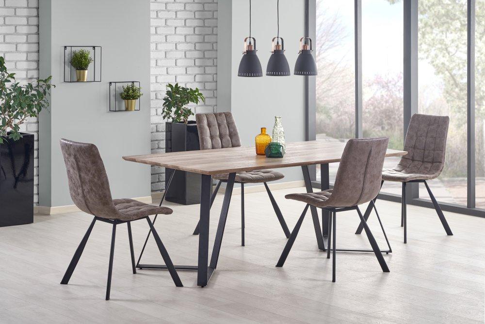 Jedálenský stôl CALGARY orech rustikálny Halmar
