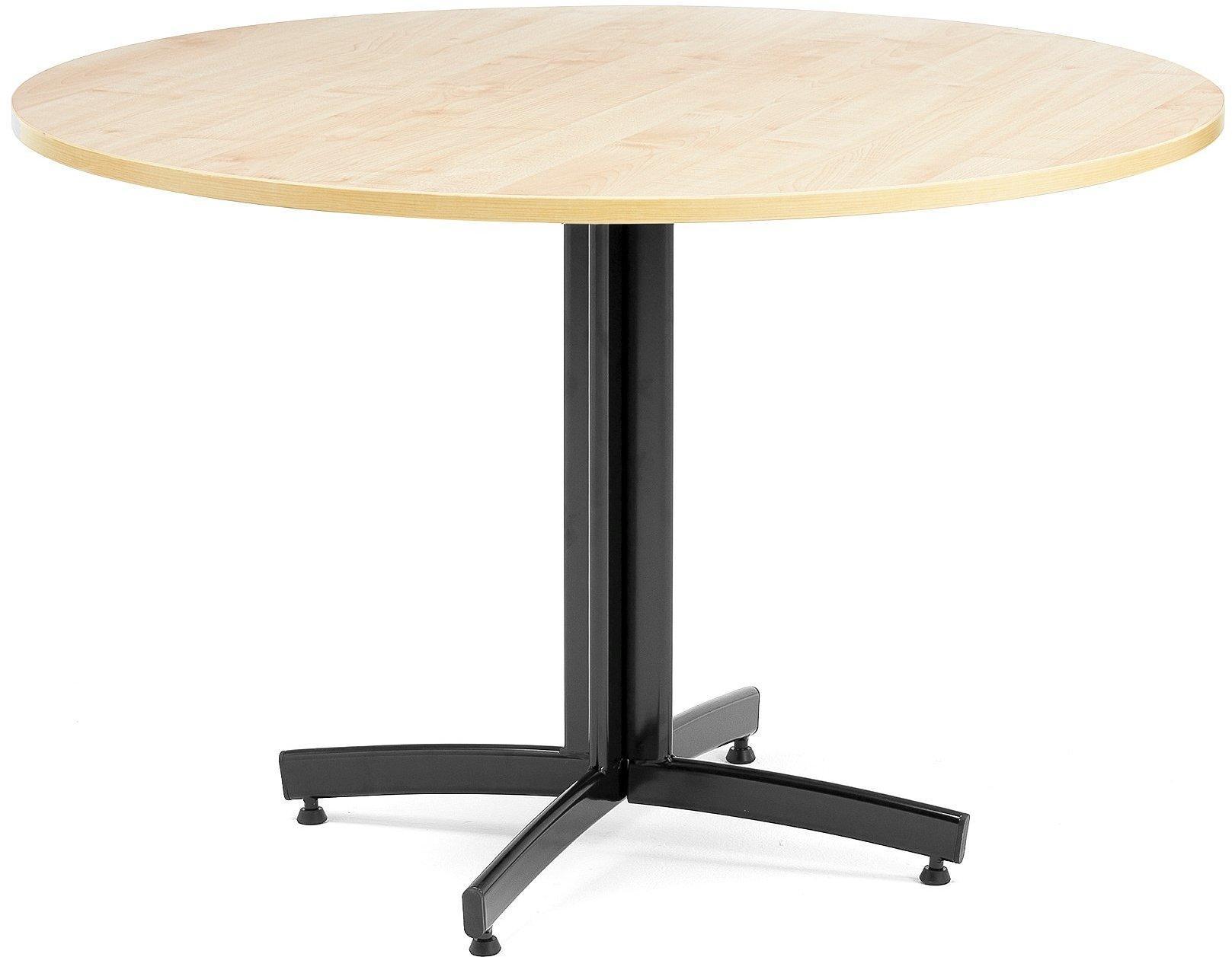 Jedálenský stôl Sanna, okrúhly Ø 1100 x V 720 mm, breza / čierna