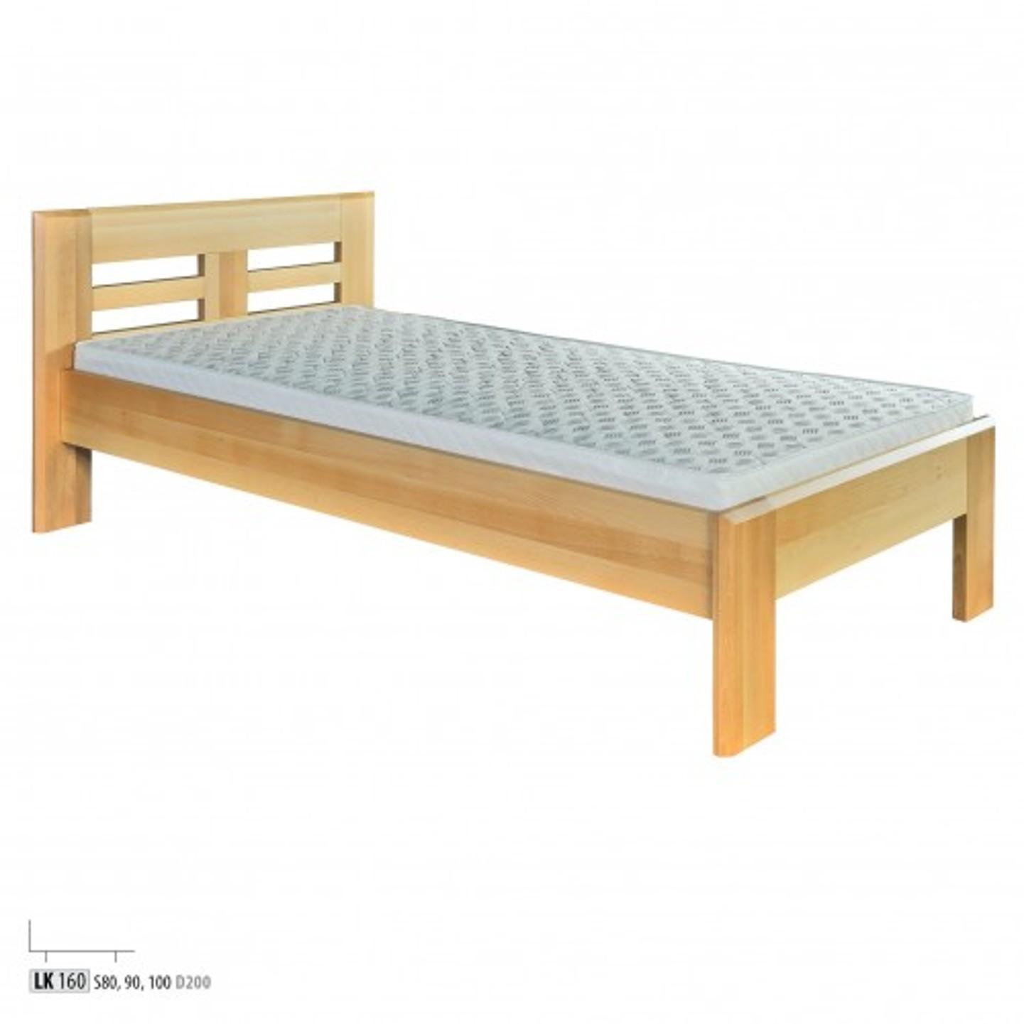 Jednolôžková masívna posteľ  LK 160 S90