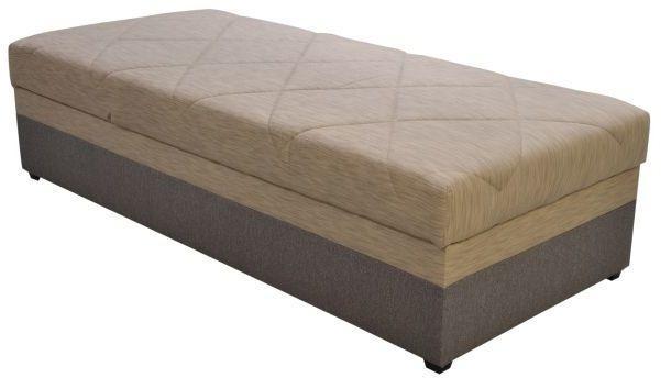 Jednolôžková posteľ 90 cm Blanár Evelína (tmavohnedá) (s roštom a matracom Alena)
