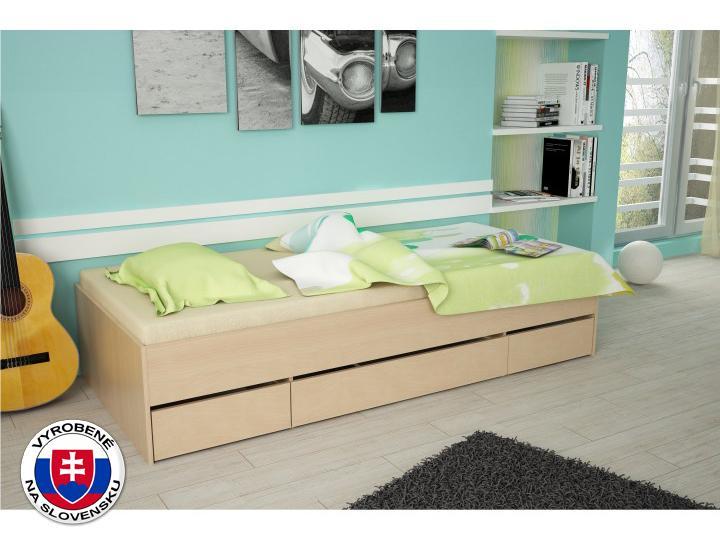 Jednolôžková posteľ 90 cm Meara (buk)