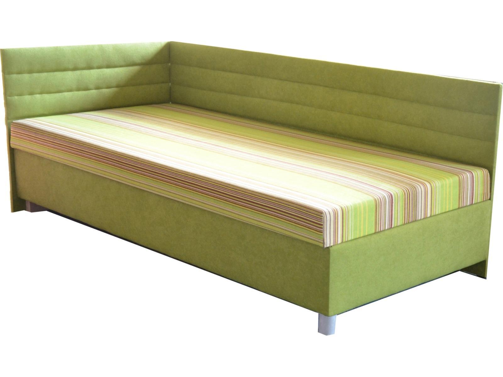 Jednolôžková posteľ (váľanda) 100 cm Etile 2 (so 7-zónovým matracom lux) (L)