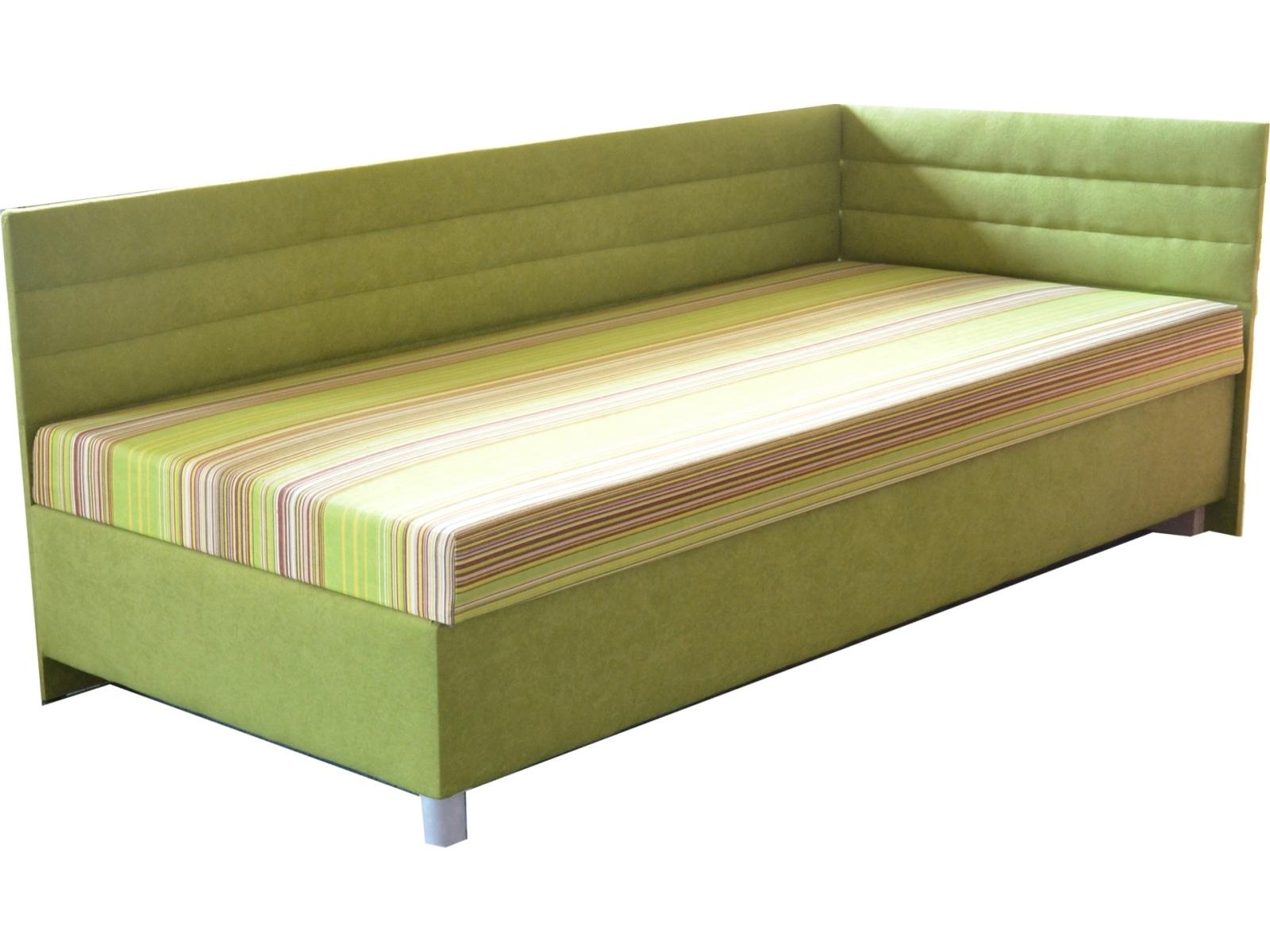 Jednolôžková posteľ (váľanda) 100 cm Etile 2 (so 7-zónovým matracom lux) (P)