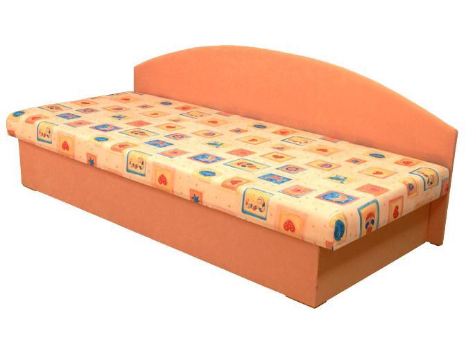 Jednolôžková posteľ (váľanda) 80 cm Edo 3 (s molitanovým matracom)