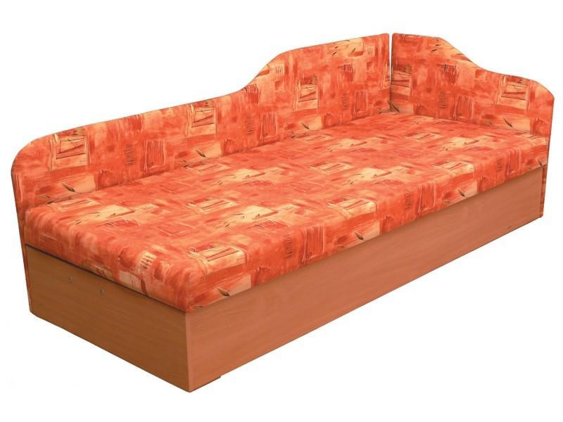 Jednolôžková posteľ (váľanda) 80 cm Edo 4/2 (s molitanovým matracom) (P)