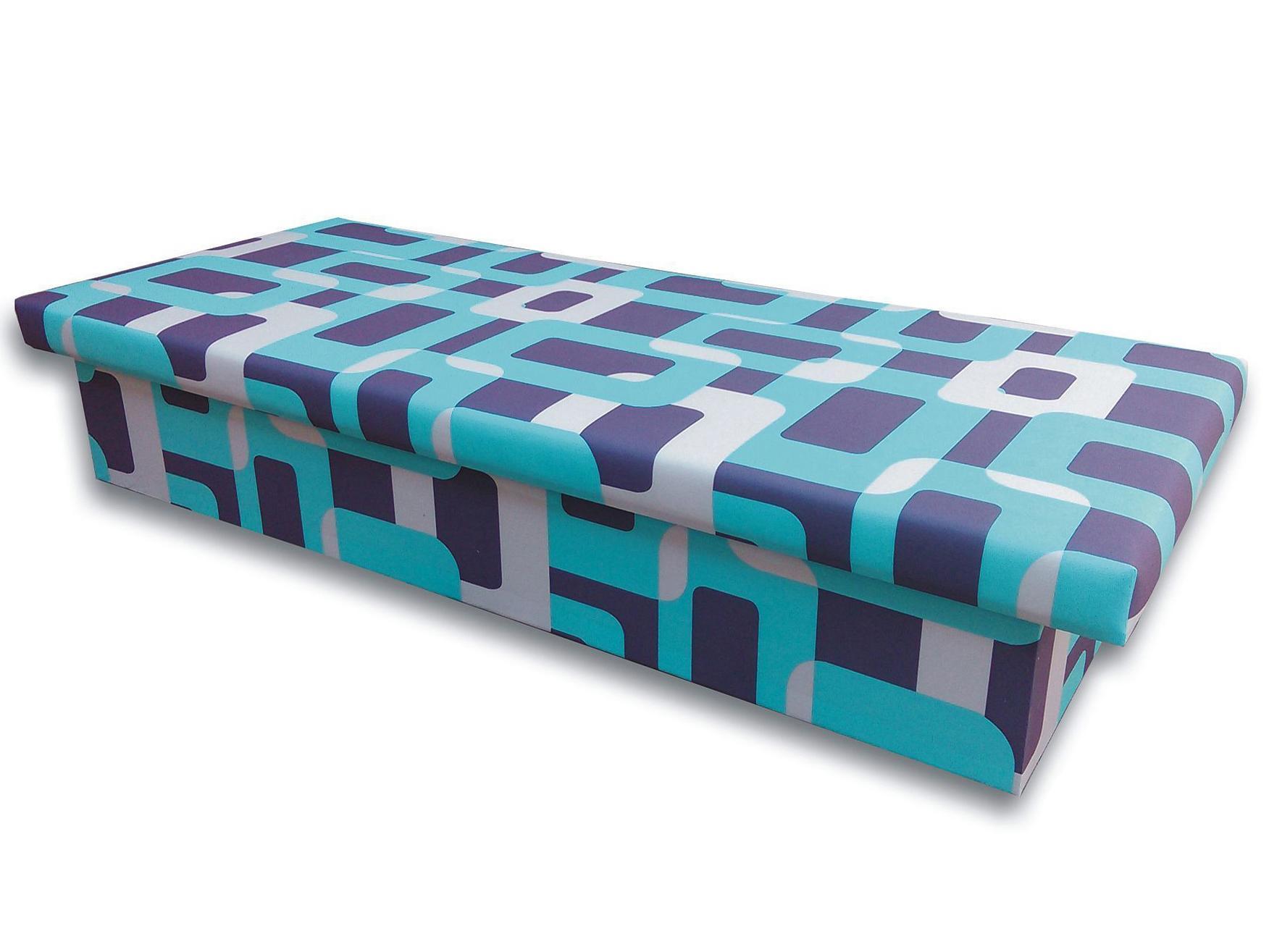 Jednolôžková posteľ (váľanda) 80 cm Jana 10 (Gusto 4A tyrkysová)