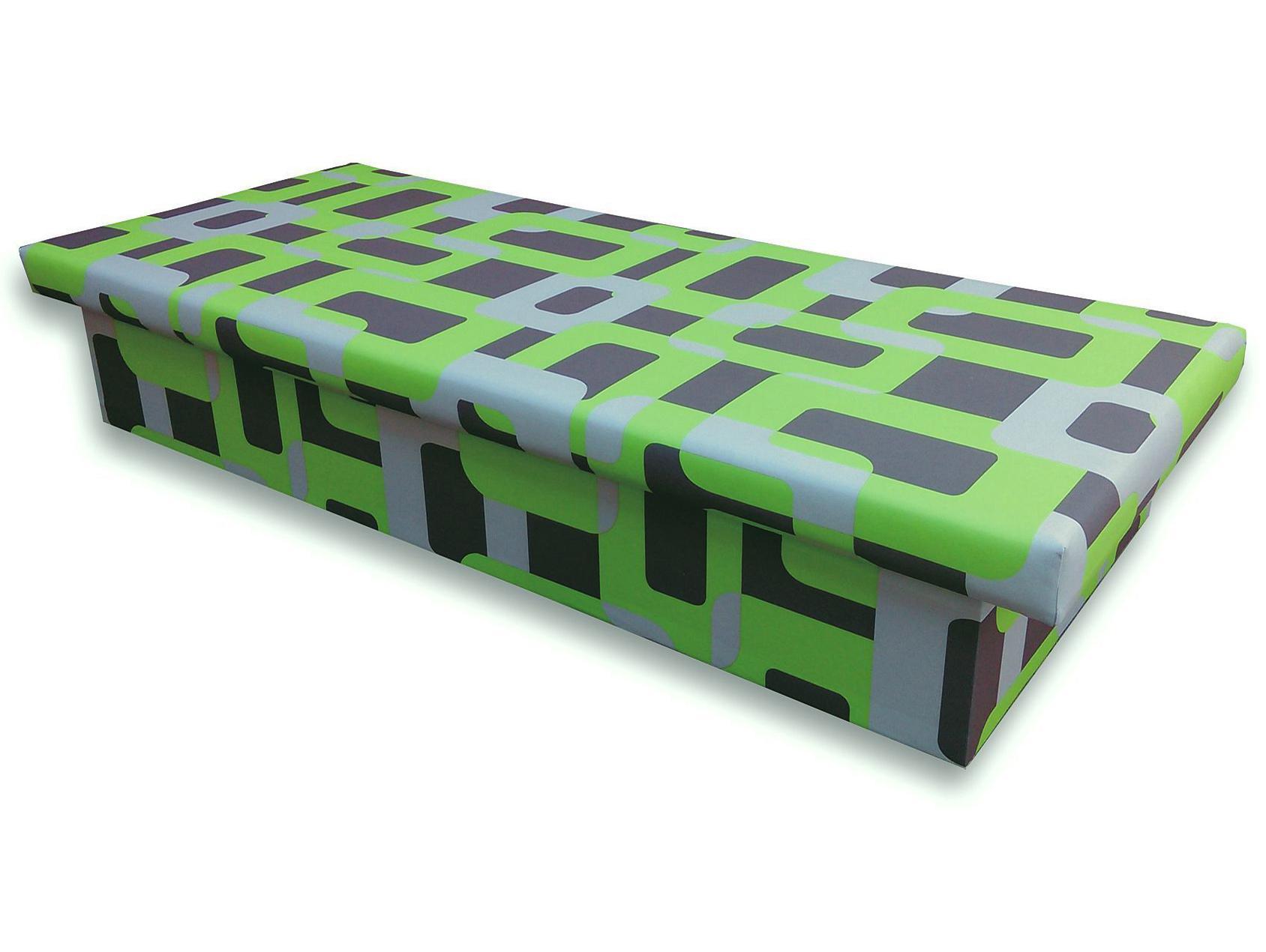 Jednolôžková posteľ (váľanda) 80 cm Jana 10 (Gusto 5A zelená)