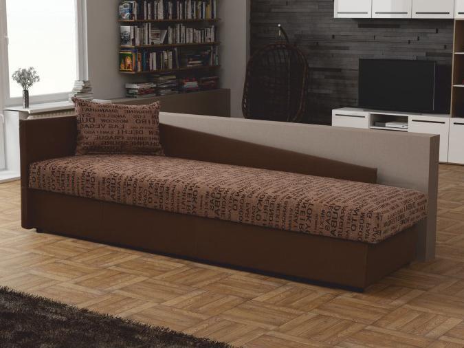 Jednolôžková posteľ (váľanda) 80 cm Jeannine (hnedá) (s úl. priestorom) (L)