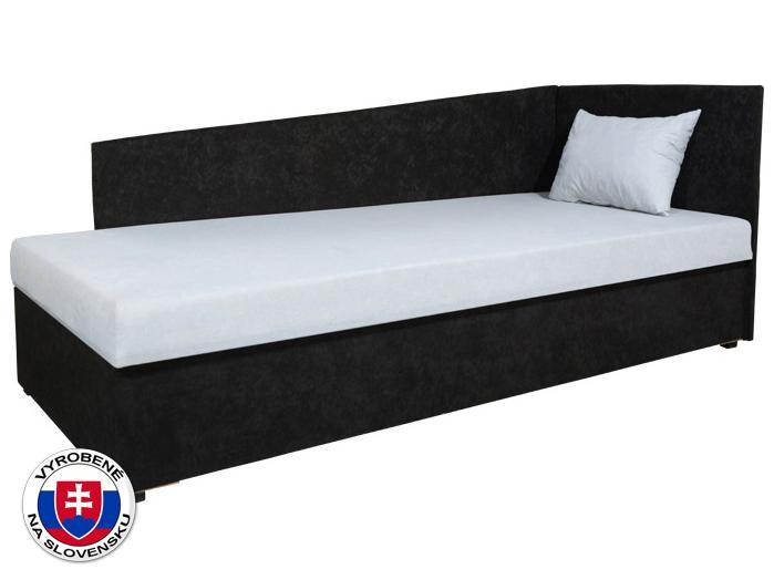 Jednolôžková posteľ (váľanda) 80 cm Edo 4 Lux (s molitanovým matracom) (P)