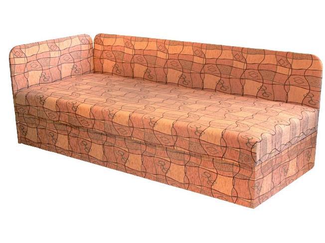 Jednolôžková posteľ (váľanda) 80 cm Edo 4/1 (s molitanovým matracom) (L)