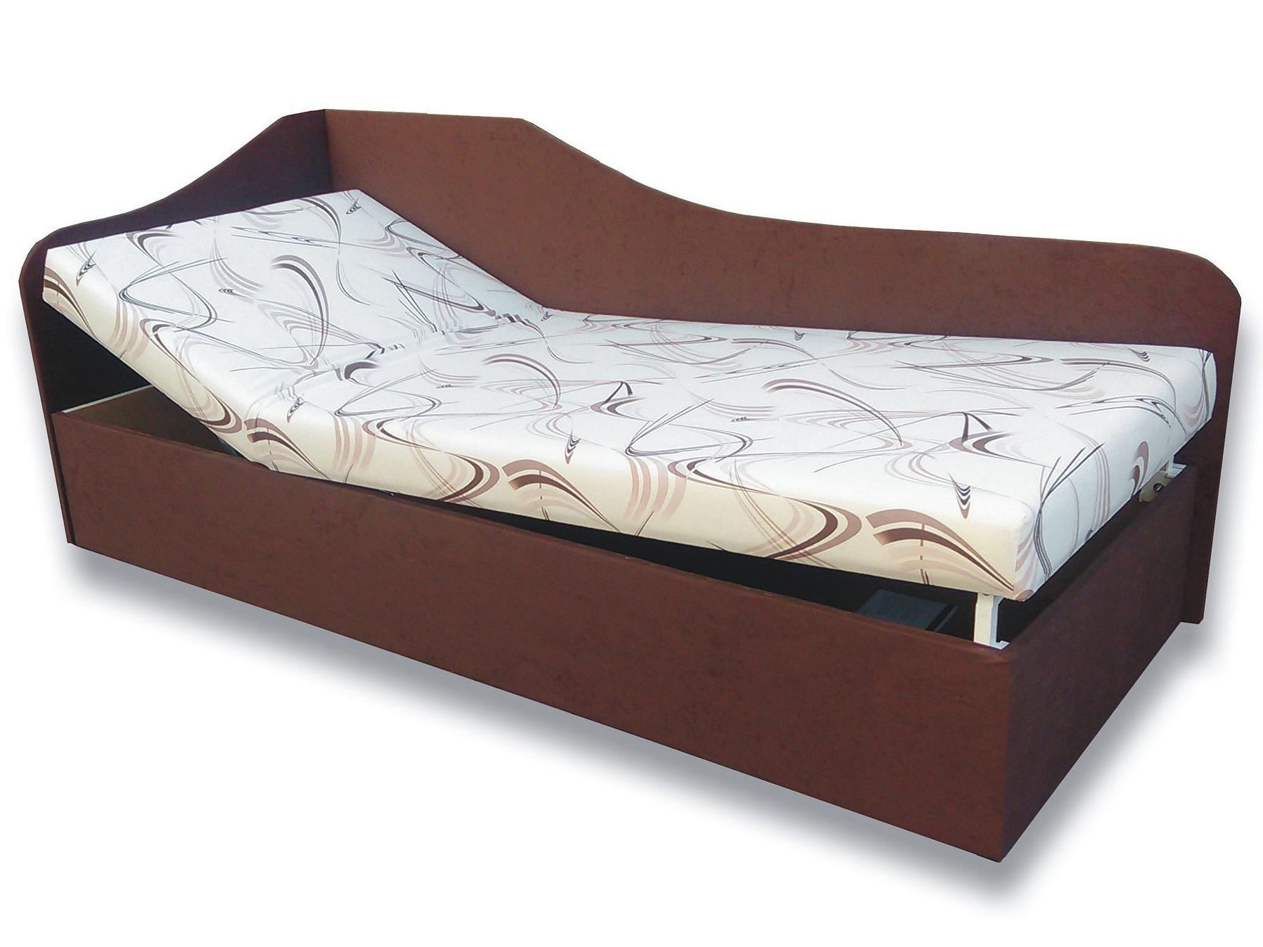 Jednolôžková posteľ (váľanda) 80 cm - Važo - Anita (Sand 10 + Tmavohnedá 40) (L). Sme autorizovaný predajca Važo.