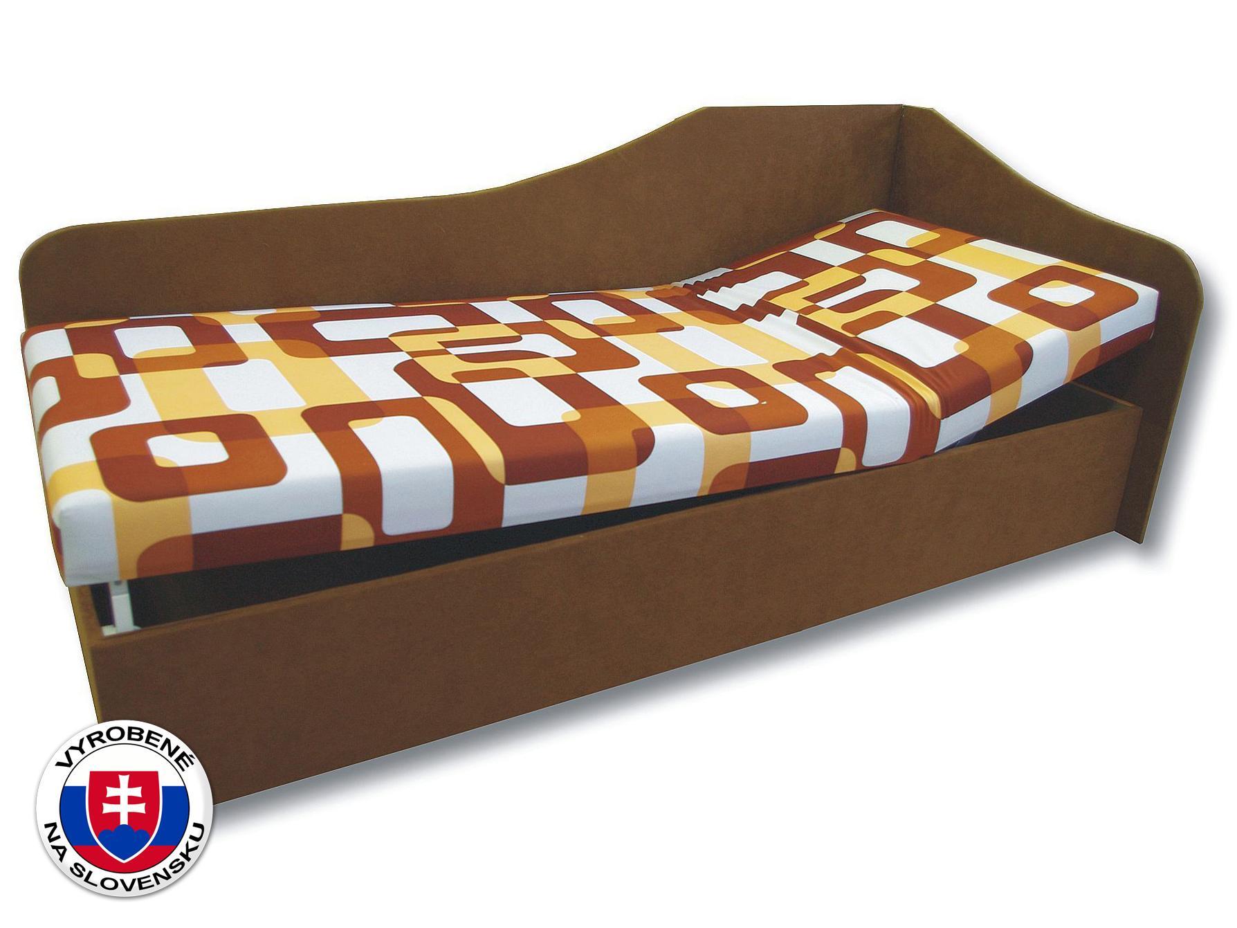 Jednolôžková posteľ (váľanda) 90 cm Anita (Gusto 11 + Hnedá 13) (P)