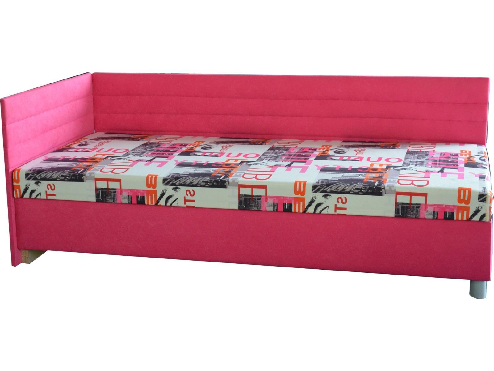 Jednolôžková posteľ (váľanda) 90 cm Etile 2 (s molitanovým matracom) (L)