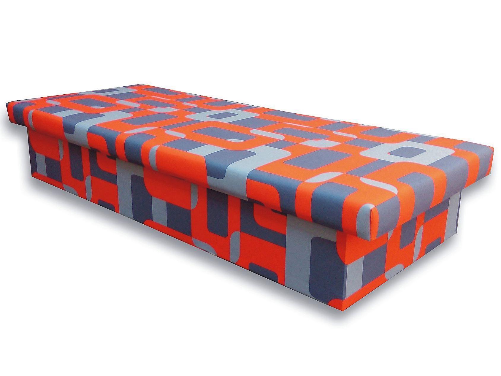 Jednolôžková posteľ (váľanda) 90 cm Jana 10 (Gusto 6A oranžová)
