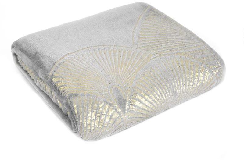 Jemná strieborná deka LAURA 150x200 cm