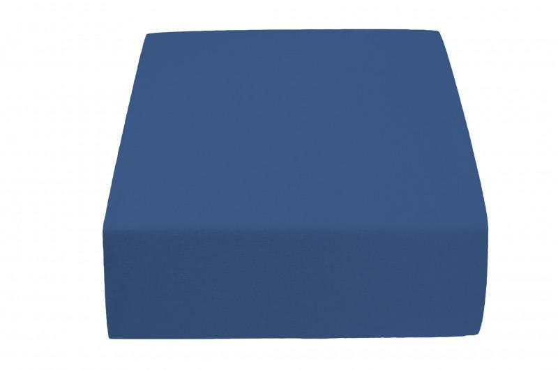 Jersey plachta do detskej postieľky tmavo modrá 60 x 120 cm