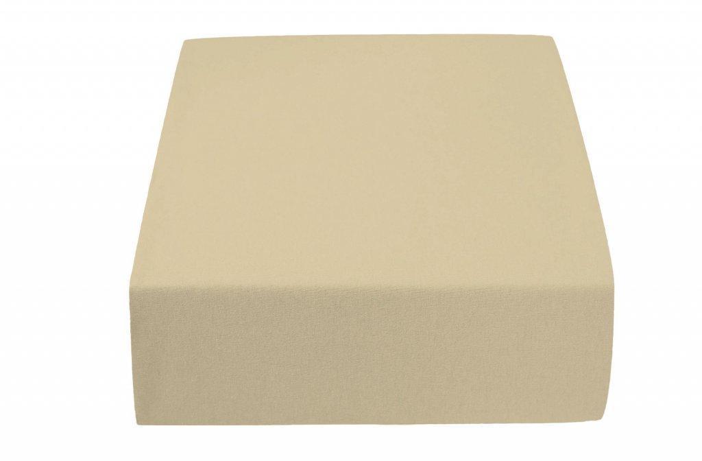 Jersey plachta MICRO béžová 90x200 cm