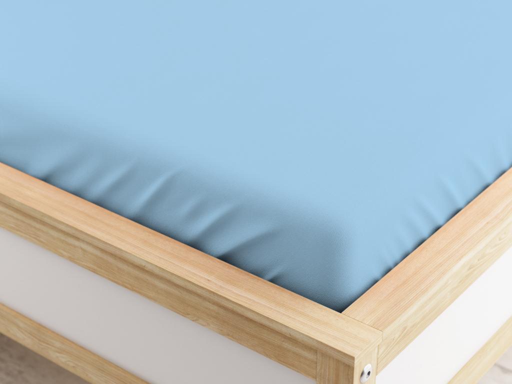 Jersey plachta svetlo modrá 160x200 cm