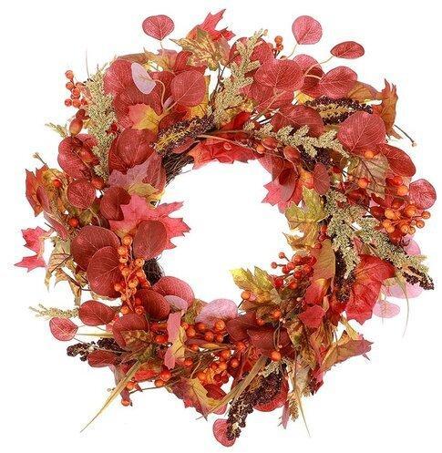Jesenný veniec s listami a bobuľami, pr. 50 cm