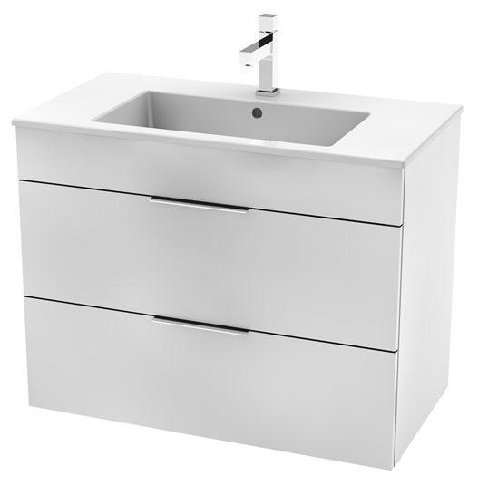 Jika CUBE Skrinka s umývadlom 79 x 42 cm, s 2 zásuvkami, biela