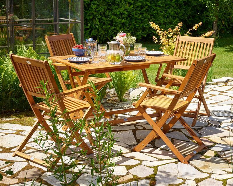 Jurhan & Co.KG Germany Sedacia zostava SYDNEY z agátového dreva 5-dielna