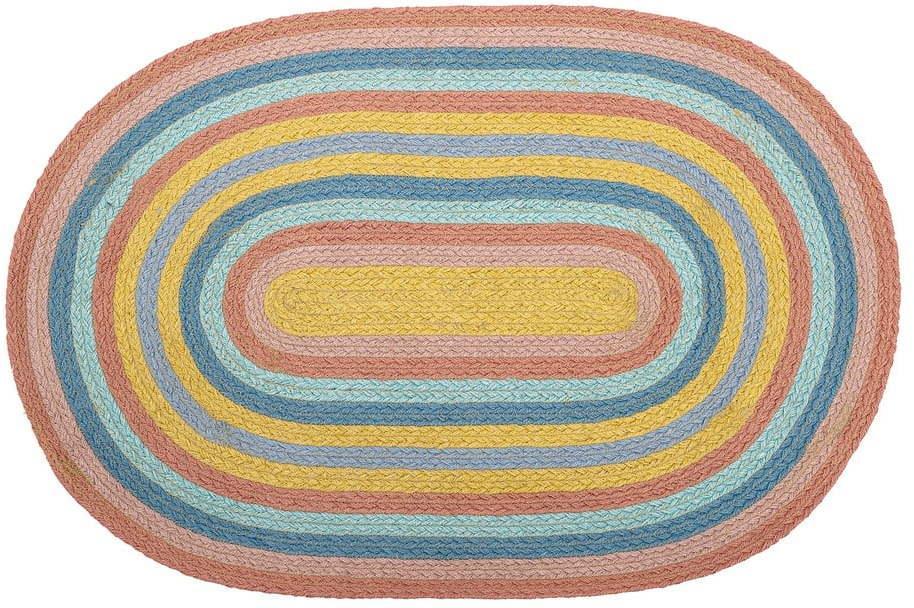 Jutový koberec Bloomingville Mini Rainbow, 50 x 75 cm